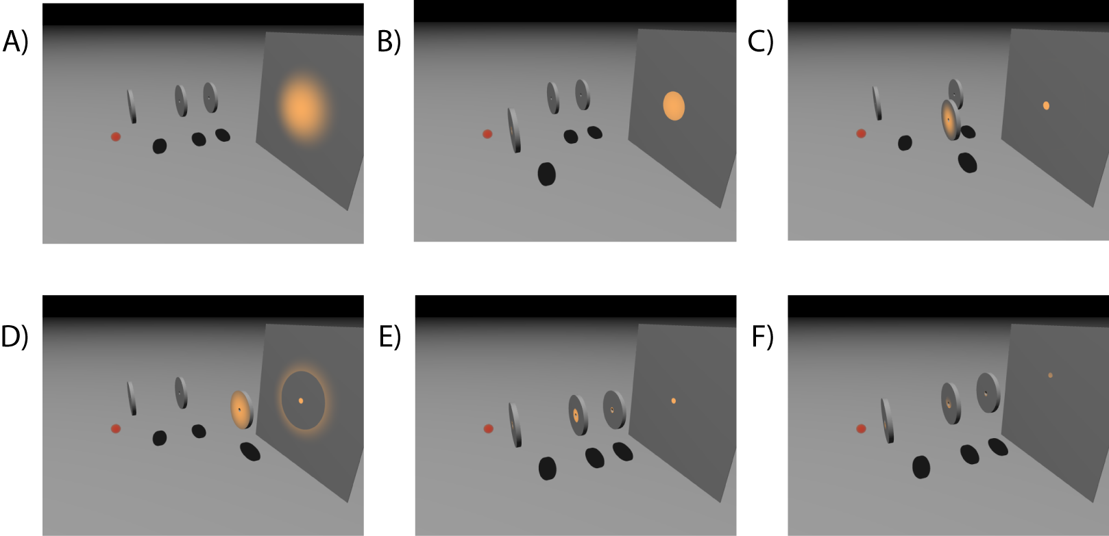 Pinhole individual alignment procedure