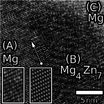 Grain boundary precipitate in HPT MgZn