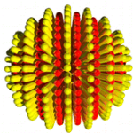 Stripy nanoparticles are supposed to look like this. Source: graphical abstract of Huang et al. 2014. Source DOI: 10.1021/nn501203k  Copyright ACS Publications, Permission requested to reproduce image on this blog November 15, 2014.
