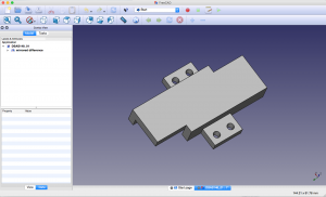 Imported crystal lid part in FreeCAD.