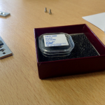 Samples to measure, including the new NIST glassy carbon