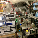 Sample end of Javier's beamline, full of robots and chromatographs.